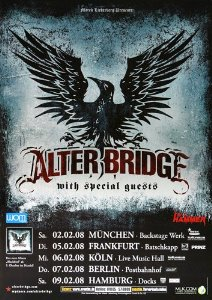 alter bridge 2008 tour